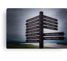 Directions sign - Golden Triangle Canvas Print
