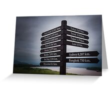 Directions sign - Golden Triangle Greeting Card