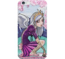 Fairytale inspired princess with pink smoke iPhone Case/Skin