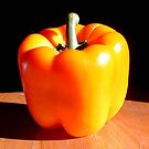 Orange Bell Pepper by Johnny Furlotte
