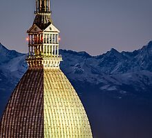 Turin (Torino), Mole Antonelliana at twilight by MarcoSaracco
