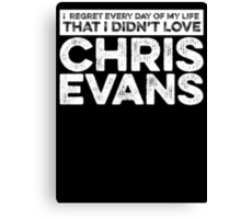 Regret Every Day - Chris Evans (Variant) Canvas Print