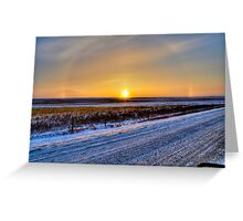 Minus 30 on The Prairie Greeting Card