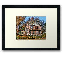 I want that Big Pink House Framed Print