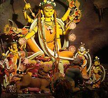 Sakti Rupe Devi Durga by mitrajee