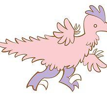 Feathery Dinosaurs - Velociraptor Run by Julia Hutchinson