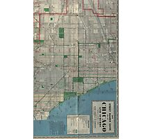 Chicago Vintage Map Photographic Print