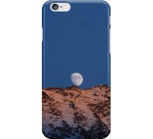 Moon coming up from bedind mountains iPhone Case/Skin