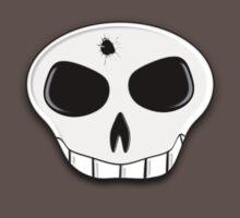 Skull Bullet Hole Tee by BluAlien