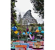 Teacups and Matterhorn Photographic Print