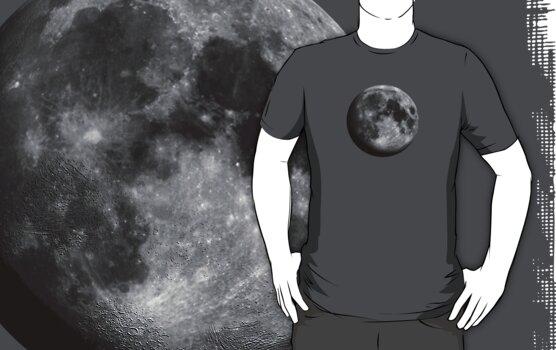 Moon (large) Tee by BluAlien