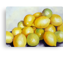 Lemon 'n' Lime Party Canvas Print