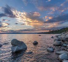 Edge of Rock Beach - Lake Tahoe by Richard Thelen