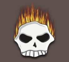 Flaming Skull Tee by BluAlien