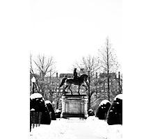 Paul Revere and Boston Snow Photographic Print