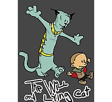 The Will and Lying Cat- SAGA / Calvin and Hobbes cross-over Photographic Print