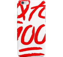 0 To 100 [Red] iPhone Case/Skin
