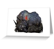 Dreaming Wolf Greeting Card