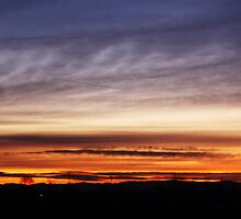 Silhouette at the sunrise by becks78