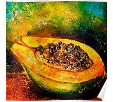 Tropics..Papaya at the George St Market Poster