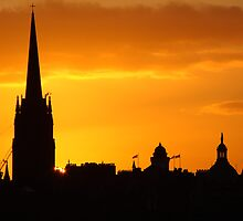 Edinburgh Skyline by Steve Falla