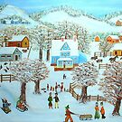 Winter Village by KenLePoidevin