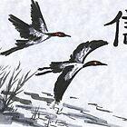 Cranes 1 by akaikatsugan