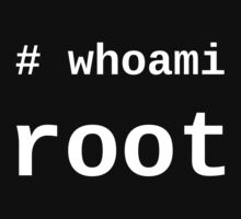 whoami root - Dark -T-Shirt for Sysadmins T-Shirt