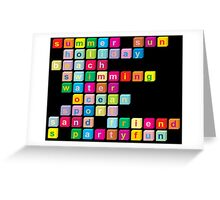 Colorful cube letters Greeting Card