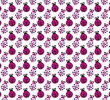 Dainty Little Pink Ladybugs  by purplesensation