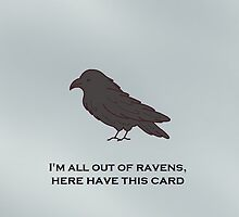 spare a raven, send a card by julierab