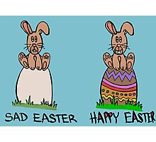 Sad or happy Easter Photographic Print