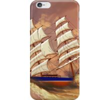 Cutty Sark in Heavy Seas iPhone Case/Skin