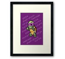 Squirtle Turtle - Donnie Framed Print