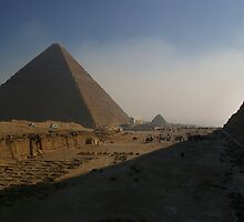 Giza Pyramids by Norman Repacholi