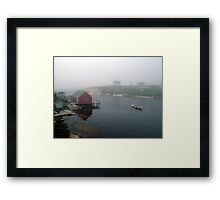 Foggy Day in Peggy's Cove (1) Framed Print