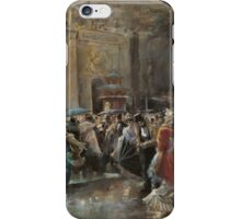 Arriving At The Theatre On A Night Of A Masqued Ball Oil On Panel  Painting Photograph iPhone Case/Skin