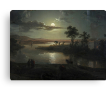 Abraham Pether - Evening Scene With Full Moon And Persons (1801) Painting Photograph Canvas Print