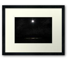 Moonlight On The Snow Framed Print