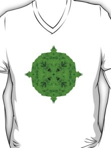 """""""Spirit of India: Blossom - Gothic Flower"""" in emerald green T-Shirt"""