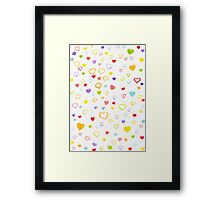 Watercolor litlle hearts Framed Print