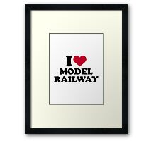 I love model railway Framed Print