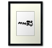 Model railroad Framed Print