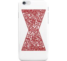 Celtic Black Widow Logo Avengers Black with Red fill iPhone Case/Skin