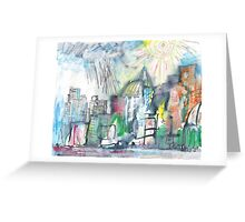 SPRING STORM IN THE CITY(C2010) Greeting Card