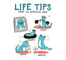 Life Tips From An Optimistic Otter Photographic Print