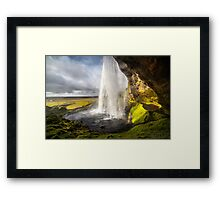 ICELAND:THE WATERFALL AND THE RAINBOW Framed Print