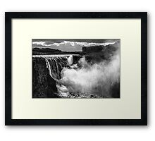 ICELAND:THE GIANT WATERFALL Framed Print