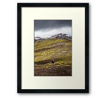 ICELAND:THE HIKER Framed Print
