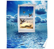 Let your mind roam free and fly away Poster